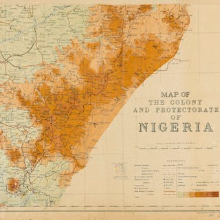 Africa.- Military maps.- Survey Dept. (Lagos, Nigeria) Map of the