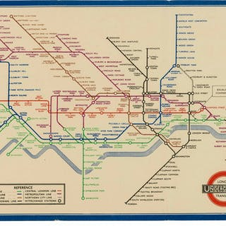 "London Underground.- Beck (Henry C., ""Harry"") [Map of London's Underground"