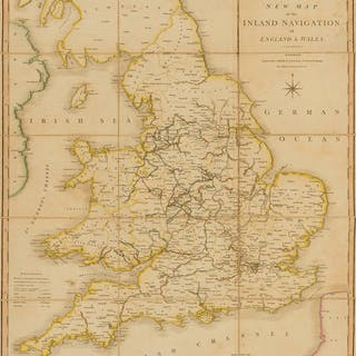 England & Wales.- Smith (Charles) Smith's New Map of the Inland Navigation