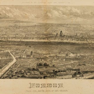 London.- River Thames.- Illustrated London News (The) London from