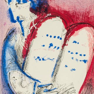 Marc Chagall (1887-1985) Moses II; Moses III (from Verve Vol. VIII)