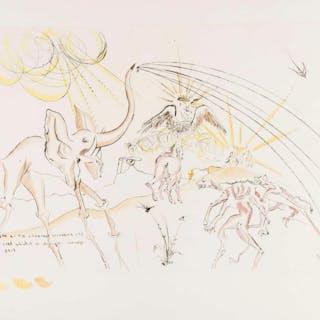 Salvador Dali (1904-1989) Les Animaux Malades de la Peste (Field 74-1D;