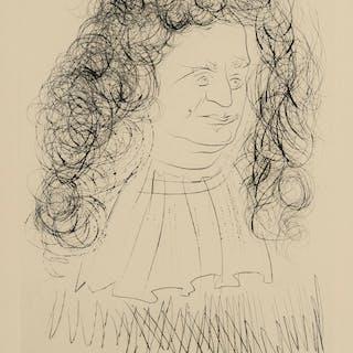 Salvador Dali (1904-1989) Portrait of La Fontaine (from La Fontaine's
