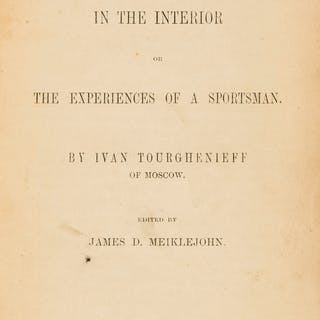 Turgenev (Ivan Sergeyevich ) Russian Life in the Interior or the Experiences