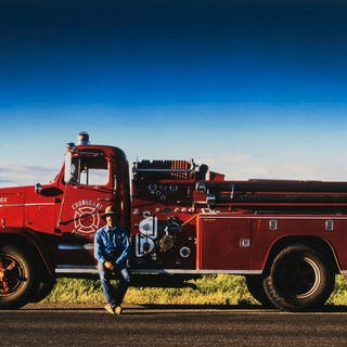 Christopher Cheetham (b. 1951) Fire Truck, Wyoming, USA, 1995, Christopher