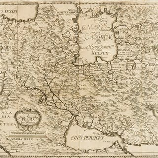 Middle East.- Olearius (Adam) A New Map of Persia, [circa 1660 or