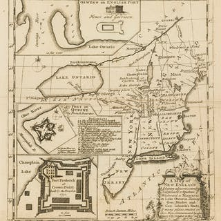 Canada.- Colonial New England.- Owen (W.) A Map of New England & ye