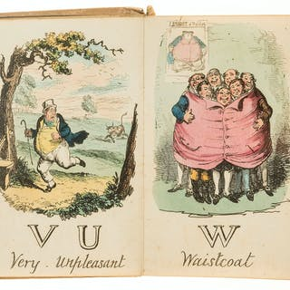 Cruikshank (George) A Comic Alphabet, 24 hand-coloured etchings, 1837