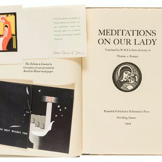 Kempis (Thomas à) Meditations of Our Lady, one of 600 copies, Ditchling