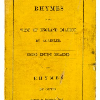 West Country.- Edwards (Joseph) Rhymes in the West of England Dialect.
