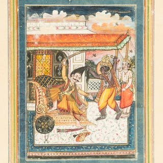 India.- Indian School (probably early 20th century) Four miniature