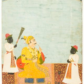 India.- Indian School (probably early 20th century) Five miniature
