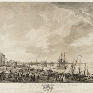 France.- Vernet (After Joseph, 1714-1789) Vue de la Ville et du Port