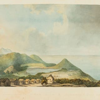 Caribbean.- English School (late 18th century) View from Morne Fortuné