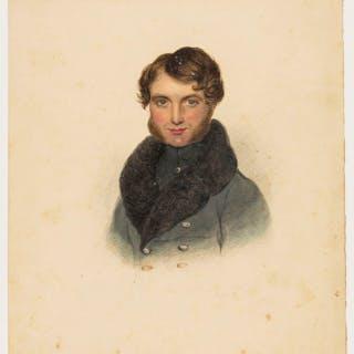 Portraits.- English School (18th century) Profile portrait of a gentleman