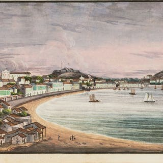 China.- Chinese Export School (circa 1830s) A souvenir album with