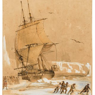 Antarctica.- Mayer (Attributed to Auguste Etienne Francois, French