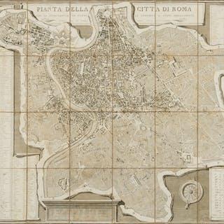 Italy.- Rome.- Monaldini (Vincenzo, publisher) Pianta della Citta