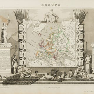 France.- Levasseur (V.) Atlas National Illustré des 86 Départments