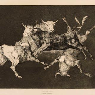 Francisco Goya (1746-1828) Al Toro y al Aire Darles Calle (Lluvia