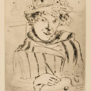 Marc Chagall (1887-1985) Self Portrait with Decorated Hat (Cramer