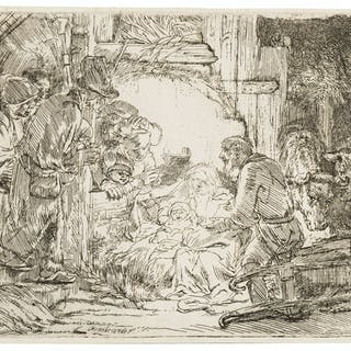 Rembrandt van Rijn (1606-1669) The Adoration of the Shepherds: With