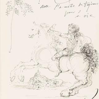 Salvador Dali (1904-1989) Untitled (Messenger approaching Cadaques)