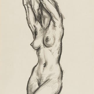 Frank Martin (b.1921) Untitled (Nude), Frank Martin (b.1921), Untitled (Nude)