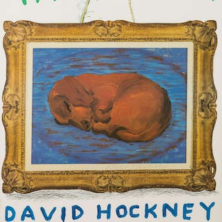 David Hockney (b.1937) A poster for David Hockney: A Retrospective
