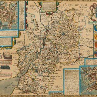 Gloucestershire.- Speed (John) Glocestershire Contrived into Thirty