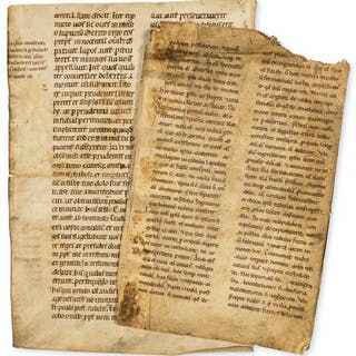 Bible, Latin.- Bifolium from an Old Testament, France or Germany