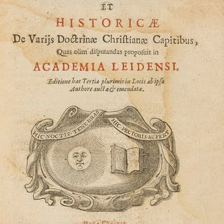 Vossius (Gerardus Joannes) Theses Theologicæ et Historicae, The Hague