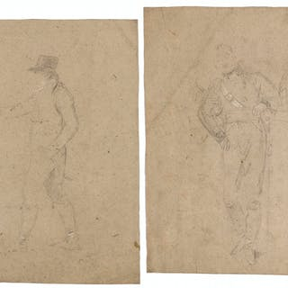 West (Benjamin, 1738-1820) Two studies for the 'The Death of Nelson'