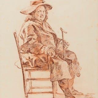 Hogarth (Follower of William, 1697-1764) Portrait of seated gentleman