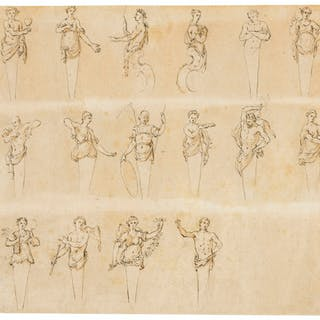 Gravelot (Attributed to Hubert-Francois, 1699-1773) Studies of Herms