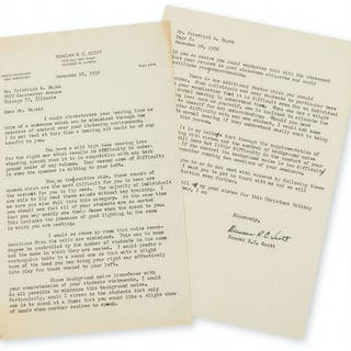 Hayek (Friedrich August) Papers relating to Hayek's personal life