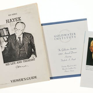 Hayek (Friedrich August) Large collection of material relating to