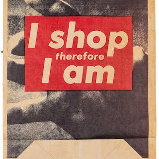 Barbara Kruger (b.1945) I Shop Therefore I Am, Barbara Kruger (b.1945)