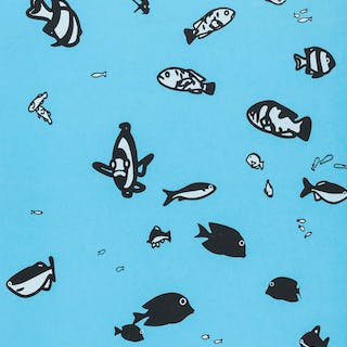 Julian Opie (b.1958) (after) Fish, Julian Opie (b.1958) (after), Fish