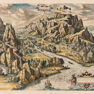 Mount Olympus.- Greek myths.- Ortelius (Abraham) Tempe, [circa 1590