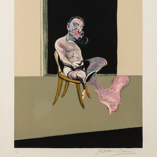 Francis Bacon (1909-1992) Triptych August 1972 (Right Panel) (Sabatier