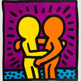 Keith Haring (1958-1990) (after) Untitled (Best Buddies), Keith Haring