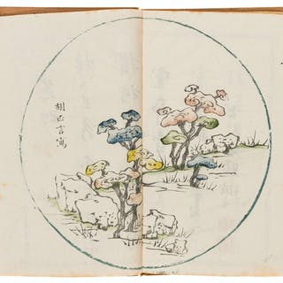 China.- Botany.- [Circular flower and studies of nature] ten double-page