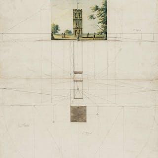 Kirby (Follower of John Joshua, 1716-1774) Perspective drawing of