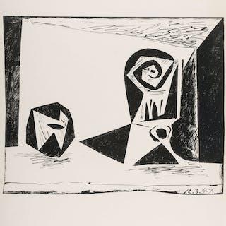Pablo Picasso (1881-1973) Composition au verre a pied (Bloch 431;