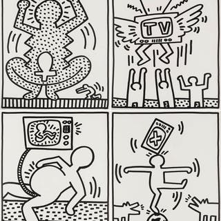 Keith Haring (1958-1990) Untitled from Lucio Amelio, Keith Haring