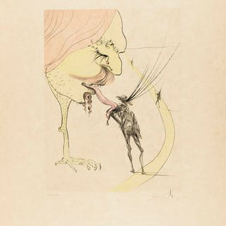 Salvador Dali (1904-1989) Picasso: A Ticket for Glory (Field 74-8C;