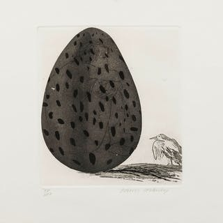 David Hockney (b.1937) The boy Hidden in an Egg (Tokyo 69), David