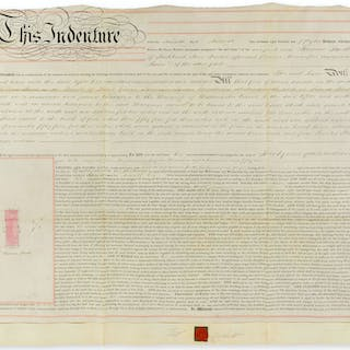 Architect.- Cubitt (Thomas) Indentures, three leases of houses in
