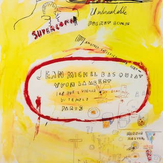 Jean-Michel Basquiat (1960-1988) (after) Supercomb, Jean-Michel Basquiat